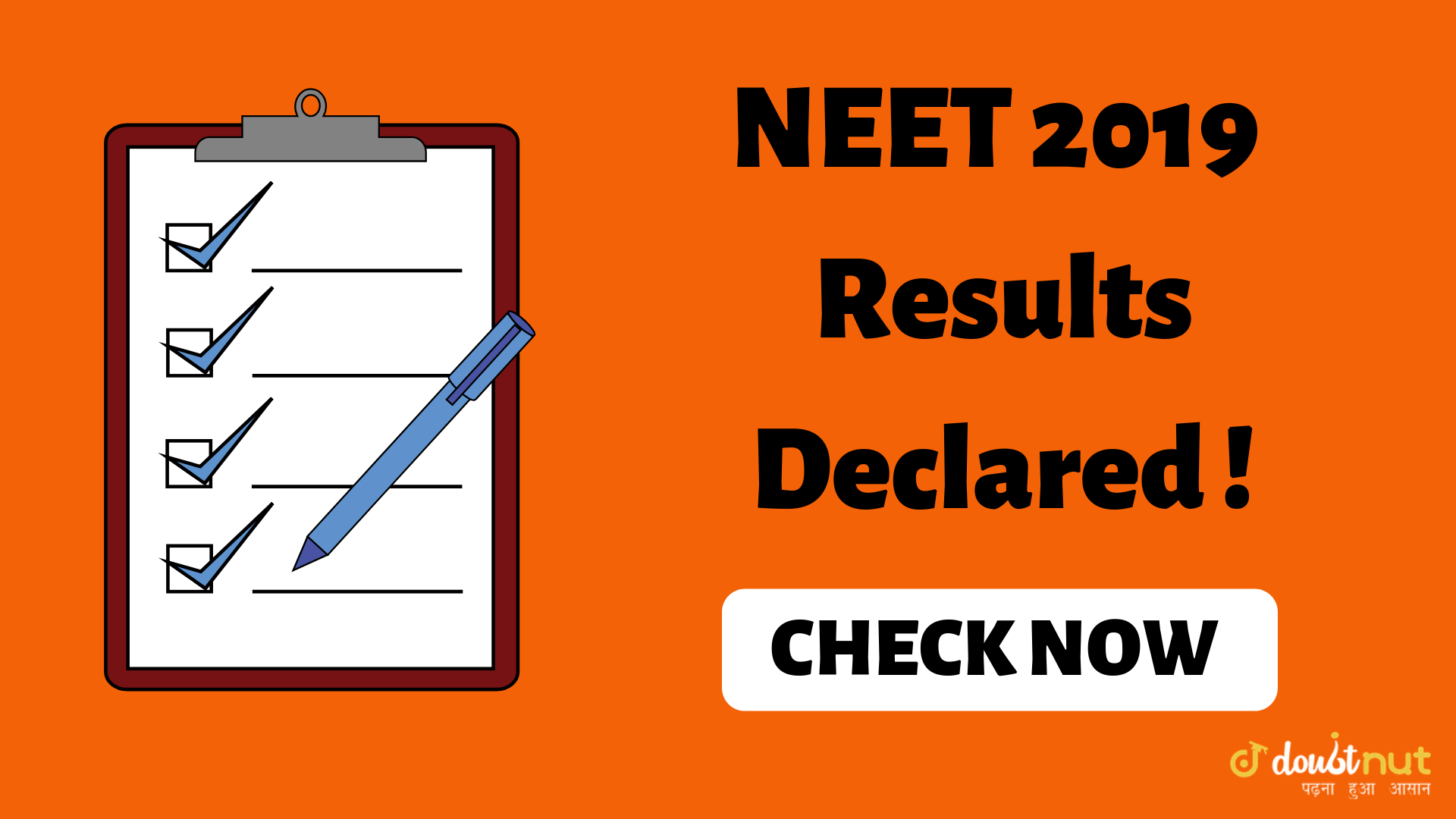 NEET 2019 Result Out Check here