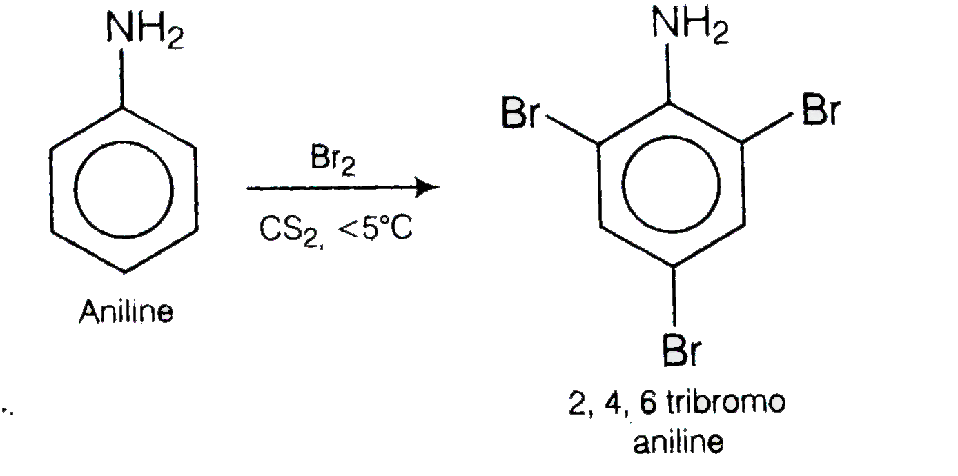Predict The Product Of Reaciton For Aniline With Bromine In Non P