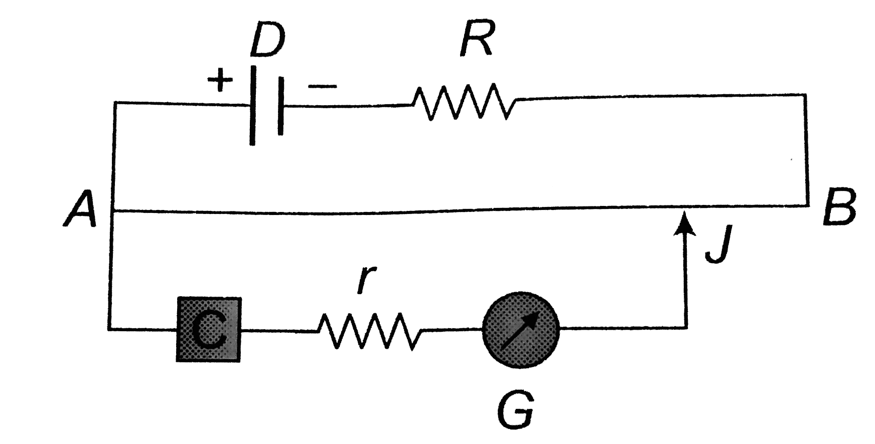 in the given potentiometer circuit, the resistance of the