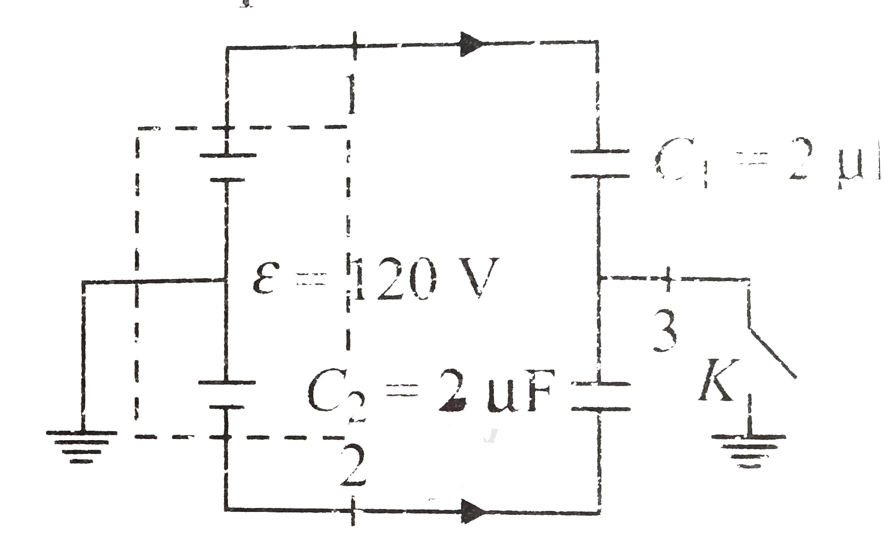 Capacitor C 1 2 Muf And C 2 3muf Are Connected In Series To