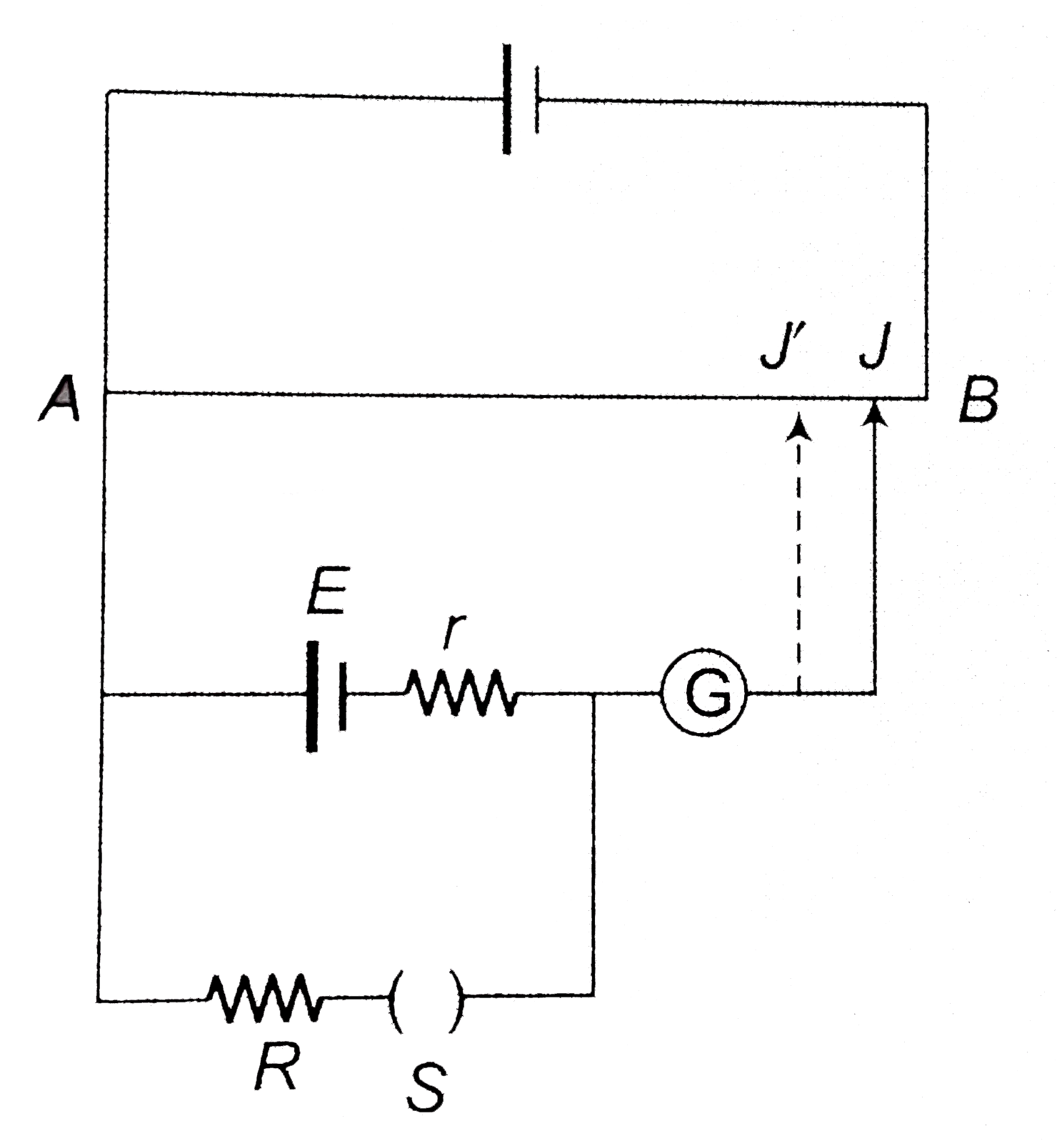 Consider the potentiometer circuit for determining the ... on