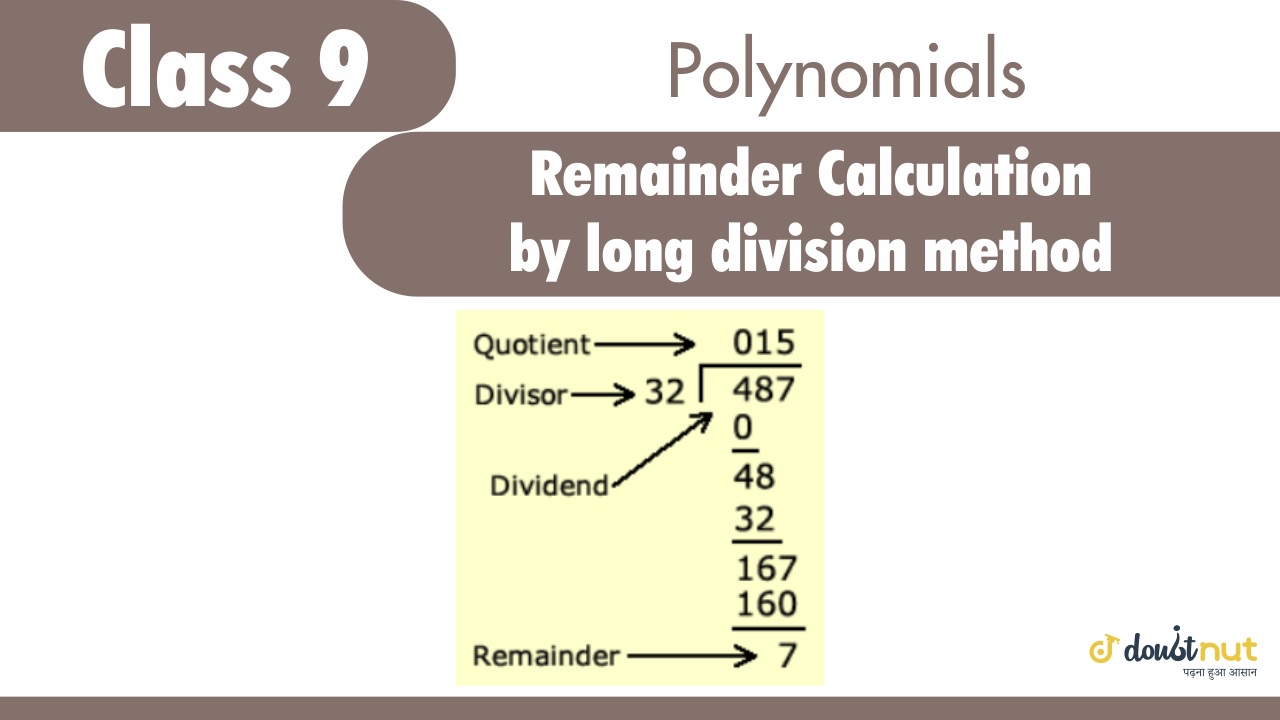 Remainder calculation by long division method