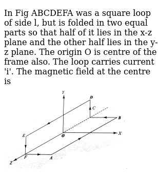 In Fig Abcdefa Was A Square Loop Of Side L But Is Folded In Two E