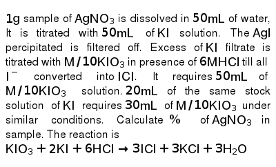 A solution of hydrogen peroxide, H2O2, is titrated with potassium