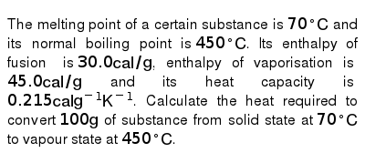P-xylene, c8h10, has an enthalpy of fusion of 158 3 j g-1