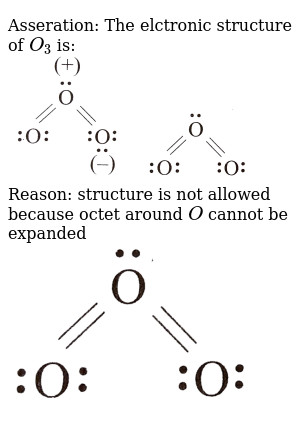 Asseration The Elctronic Structure Of O 3 Is Br Img Src