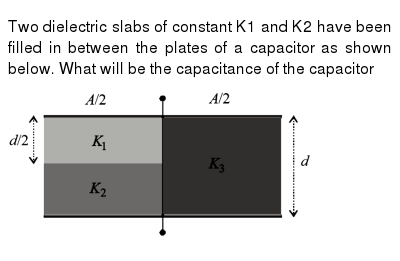 Two Dielectric Slabs Of Constant K1 And K2 Have Been Filled In Be