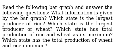 Read the following bar graph and answer the   following questions: What information is gi