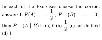 NCERT Class 12 PROBABILITY | Exercise 01 | Question No. 16