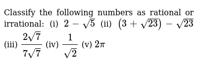 NCERT Class 9 NUMBER SYSTEMS | Exercise 05 | Question No. 01