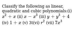 NCERT Class 9 POLYNOMIALS   Exercise 01   Question No. 05
