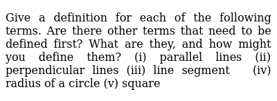 NCERT Class 9 INTRODUCTION TO EUCLIDS GEOMETRY   Exercise 01   Question No. 02