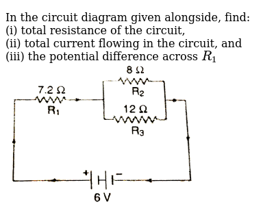 Total current flow in the circuit on