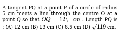 NCERT Class 10 CIRCLES | Exercise 01 | Question No. 03