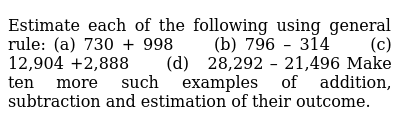 NCERT Class 6 KNOWING OUR NUMBERS | Exercise 03 | Question No. 01