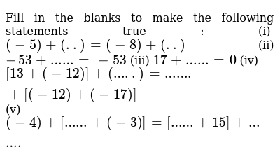 NCERT Class 7 INTEGERS | Exercise 02 | Question No. 04