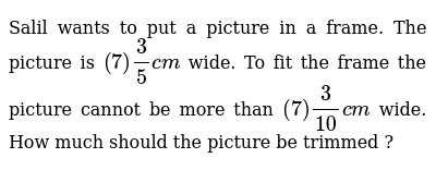 NCERT Class 7 FRACTIONS AND DECIMALS | Exercise 01 | Question No. 06
