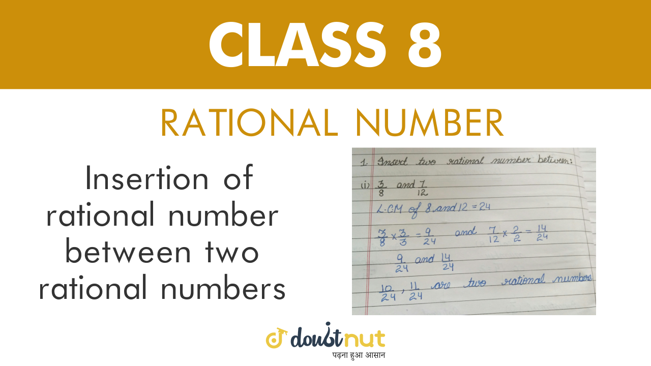Insertion of rational numbers between two given rational numbers