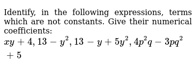 NCERT Class 7 ALGEBRAIC EXPRESSIONS   Solved Examples   Question No. 01