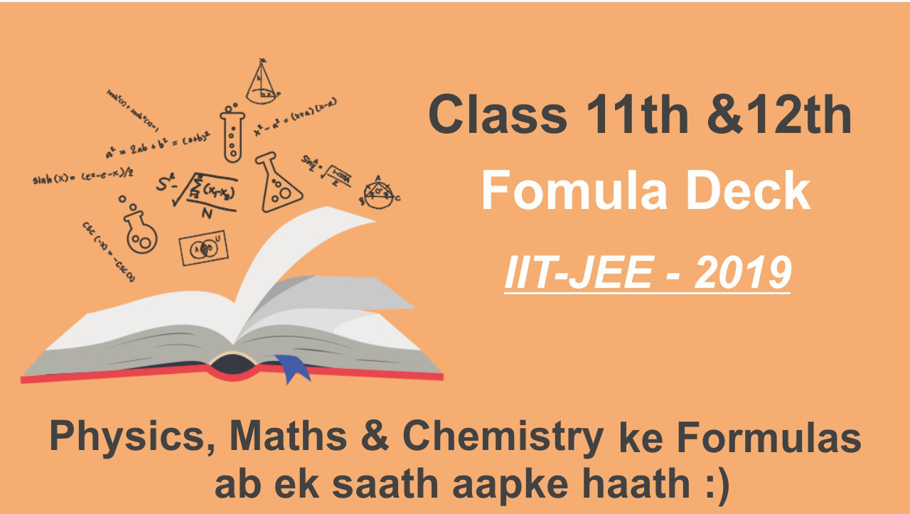 All Formulas of Maths, Physics & Chemistry For JEE Mains   Class 11 & 12