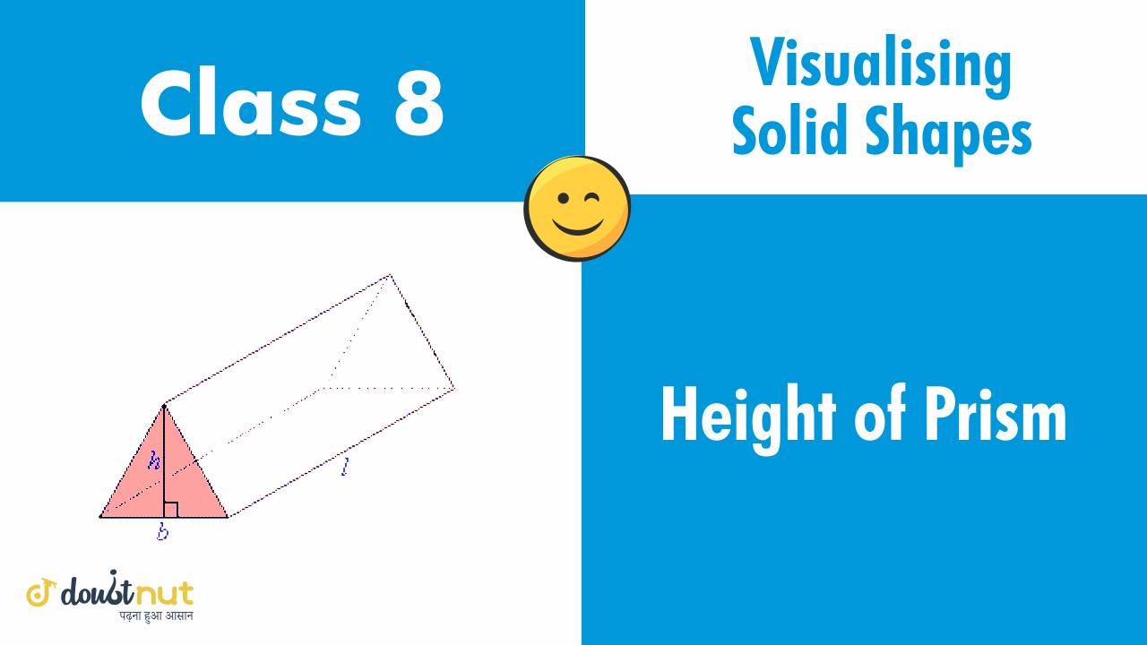 Height of a prism the perpendicular distance the ends of a prism is called the height of t