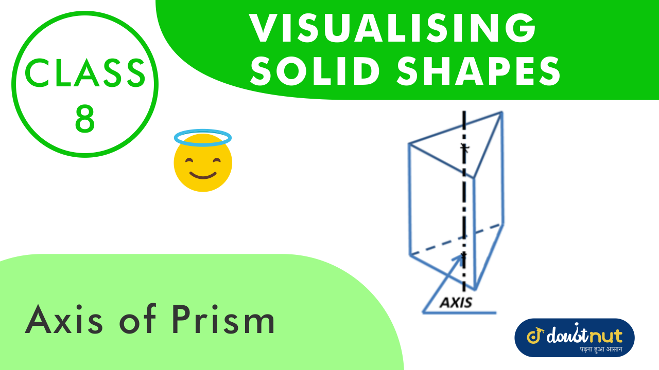 Axis of a prism the straight line joining the centres of the ends of a prism is called the