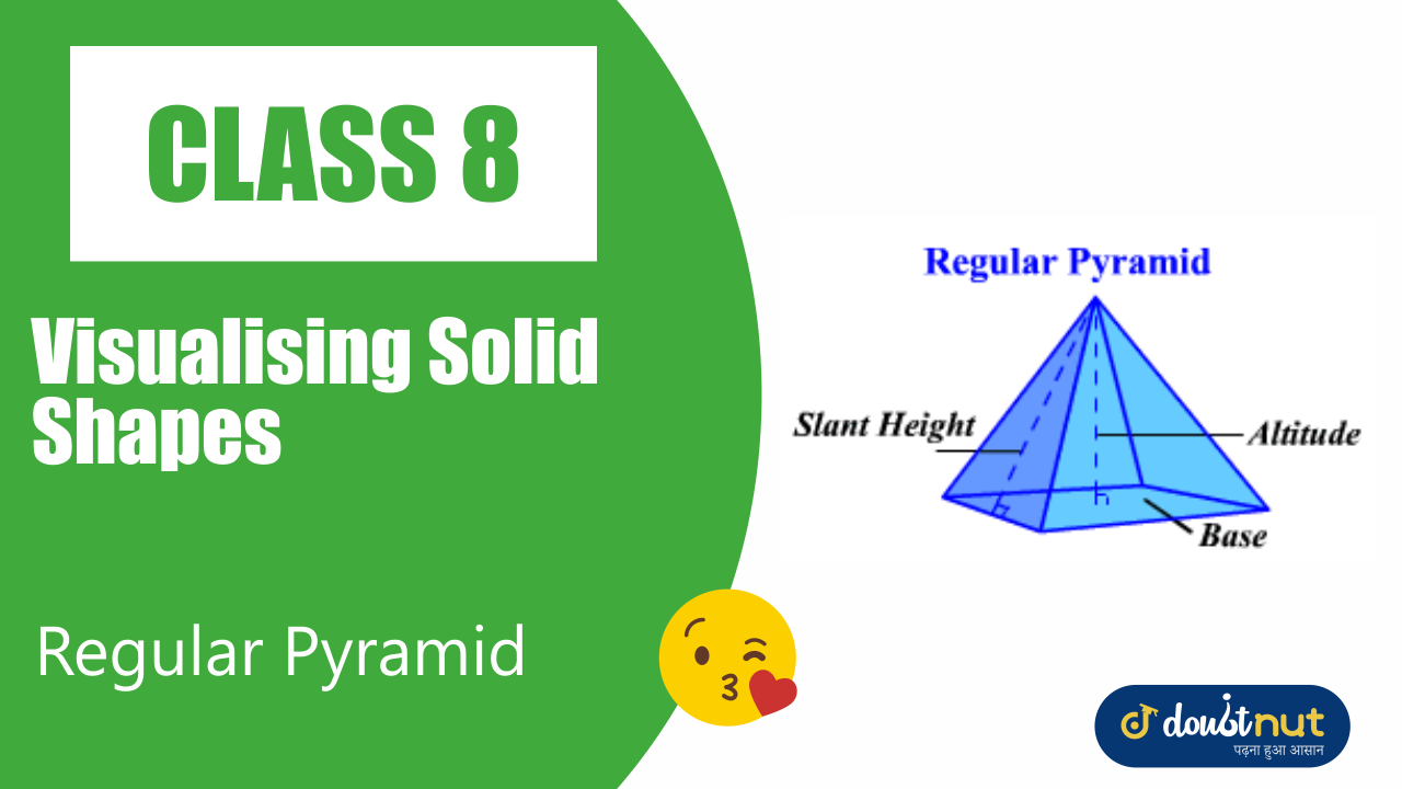Regular pyramid a pyramid is said to be a regular pyramid if its base is a regular figure.